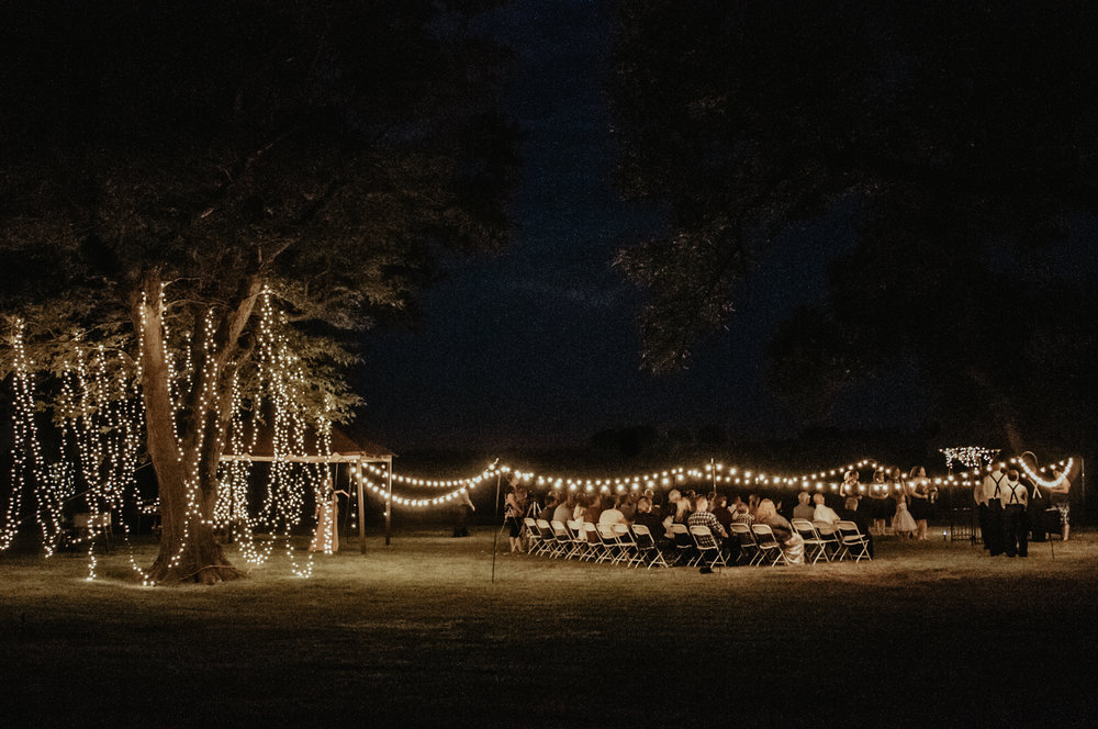 Private Land, Backyard Night Wedding