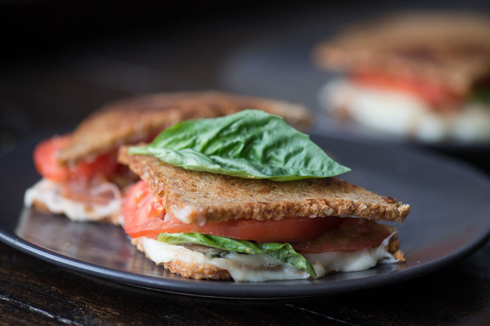 Grilled Cheese with Tomato & Basil