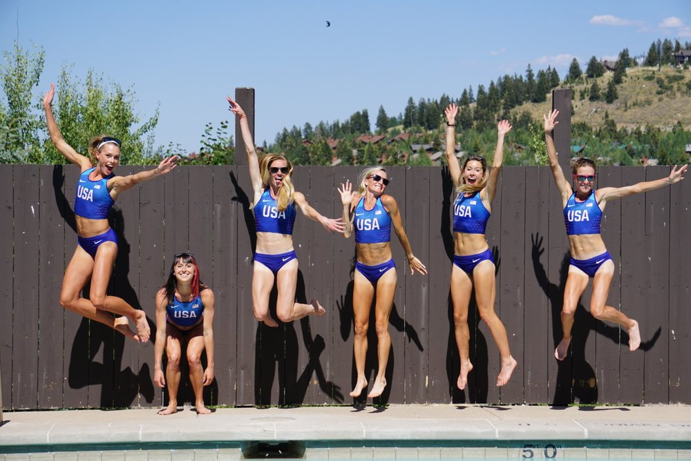 Team photoshoot in Park City- we were a little excited for the beautiful blue uniforms!
