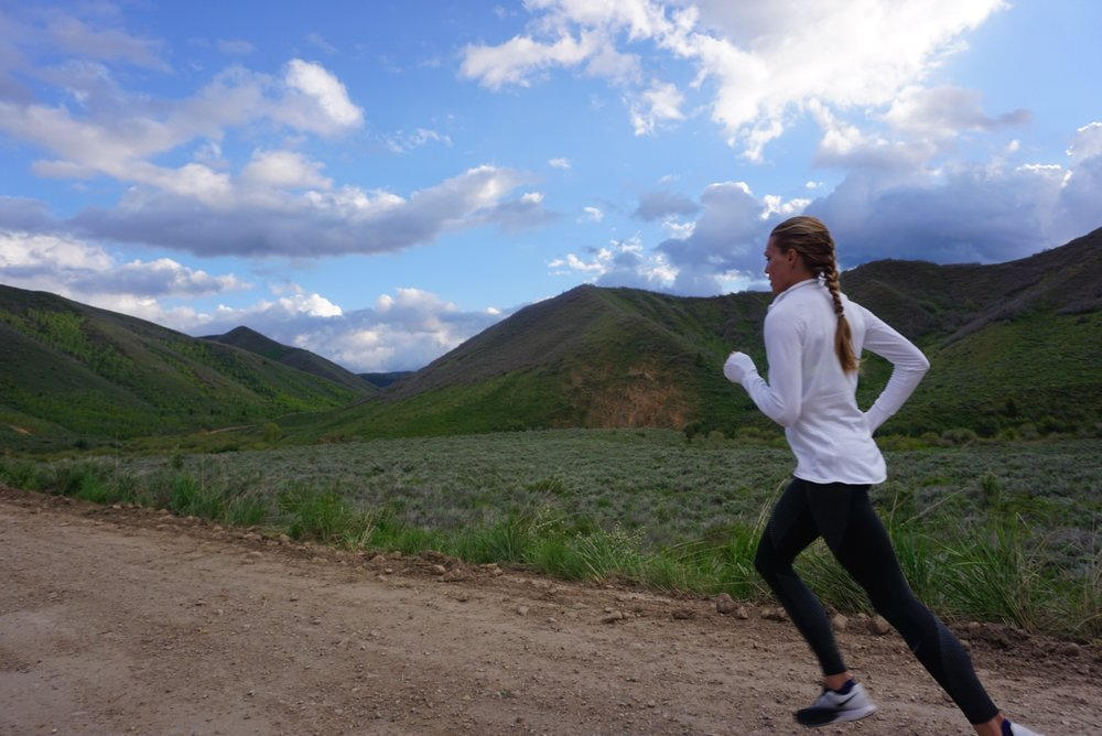Jeremy Ranch Road in Park City, Utah is a hilly but scenic run