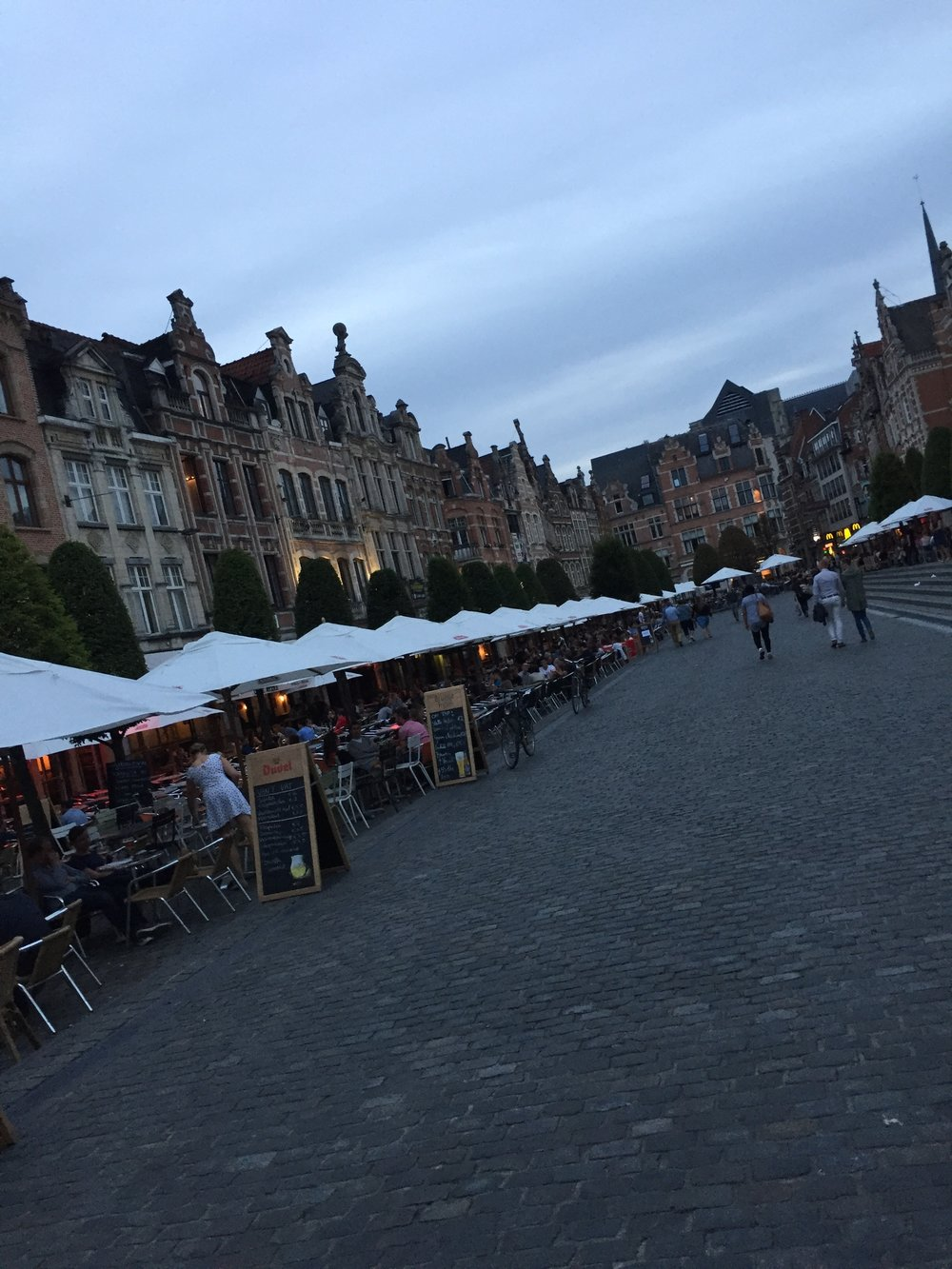 Leuven, Belgium is home to the world's longest outdoor bar seating area