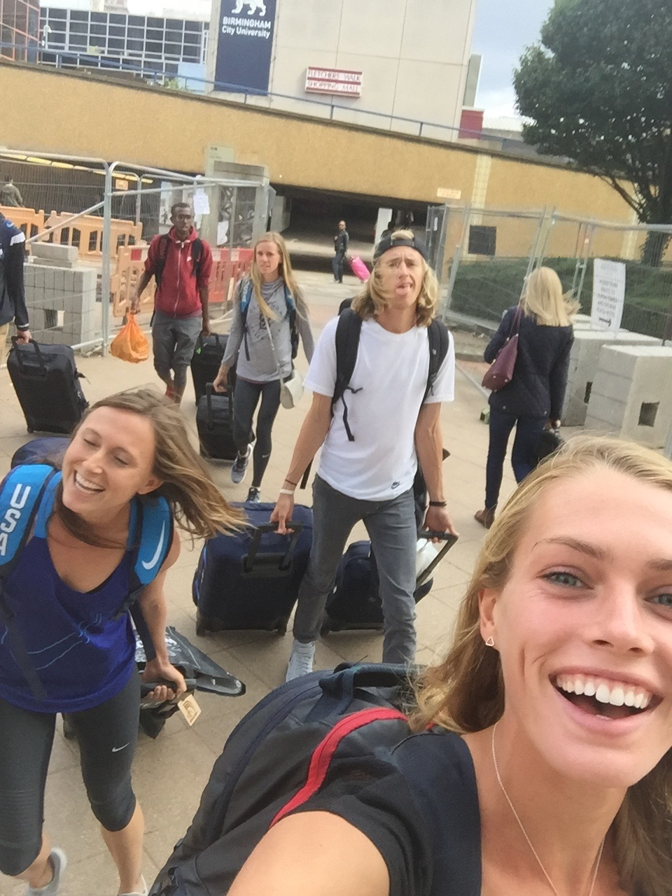 Travel day! Lugging around 100lbs of luggage all summer... good thing we are athletes!