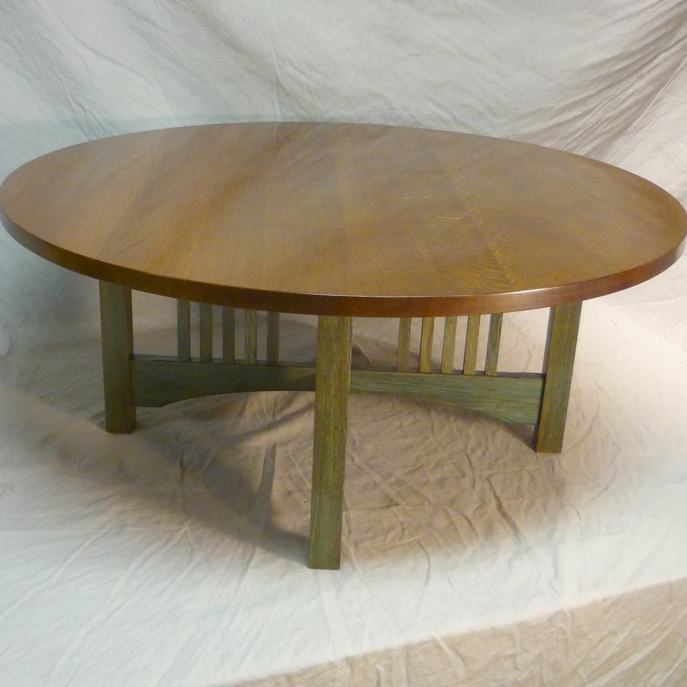Green legged oak coffee table blue hill cabinet and woodwork round oak with green legs square formatg geotapseo Gallery