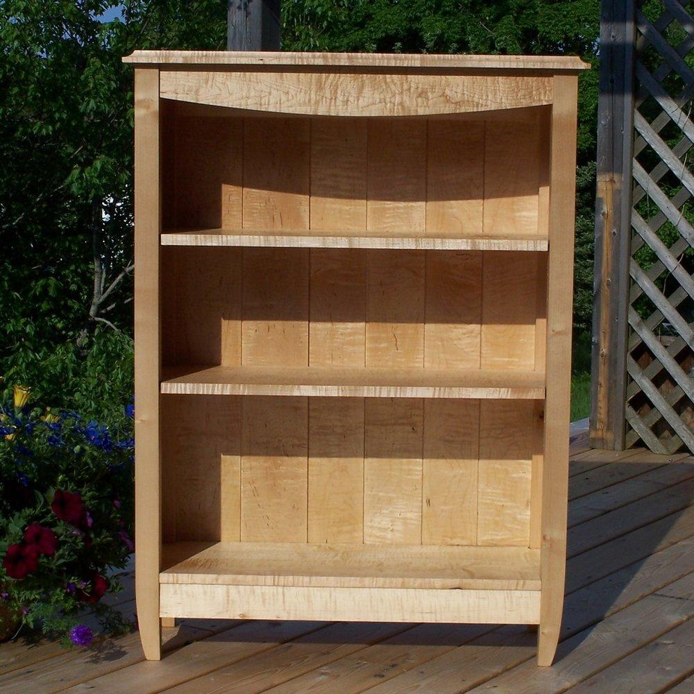 deluxe bookcase maple shelf backyards unit shelves x wood book georgia dlxbookcase unfinished bookshelf