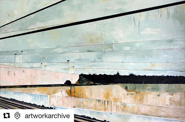 "Thank you @artworkarchive for the feature this week and for the amazing platform you offer—a must have for the working artist!  #Repost @artworkarchive (@get_repost) ・・・ Kate Burnim paints to find a still point. To express the spaces in-between and within the fast past busyness of our society. Her work is informed by the spirit of the Japanese aesthetic of Wabi-sabi—beauty often described as ""imperfect, impermanent and incomplete."" It is informed by the passage of time, and the echo of what has been, by what is revealed in the weathered surface. Check out ""Track 5"" on Discovery and more from our Featured Artist of the Week by following @kateburnim. - - - - - #artworkarchiveartist #originalart #artworkarchive #contemporaryart #vermontartist #vtart #oilpainting #oiloncanvas #landscape #landscapepainting #landscapeart #urbanlandscape #cityscape #abstractlandscape #contemporarypainting #workingartist #artinventory #artbusiness #artbiz"
