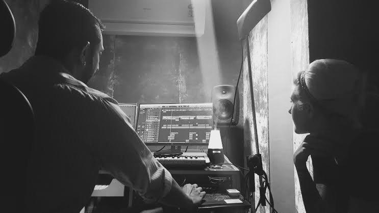 Muse & myself in the Meet Bros studio (photo by Megan Billingsley)