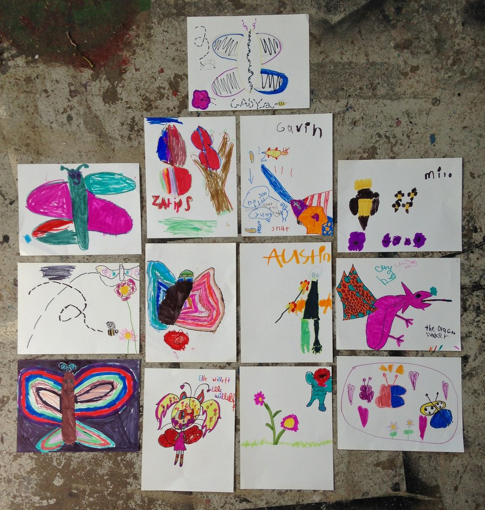 Pollinators made by youth in the Sunrise Project Food Rocket program