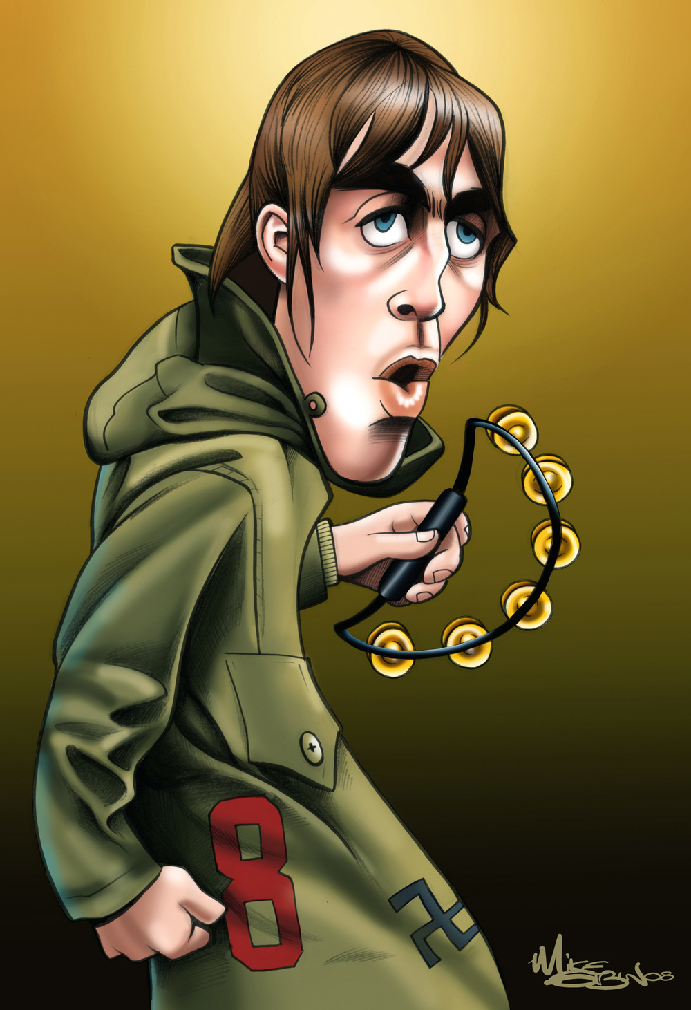 Liam Gallagher by Mike Giblin