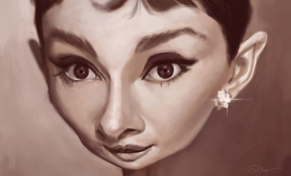 Audrey Hepburn by Paul Moyse