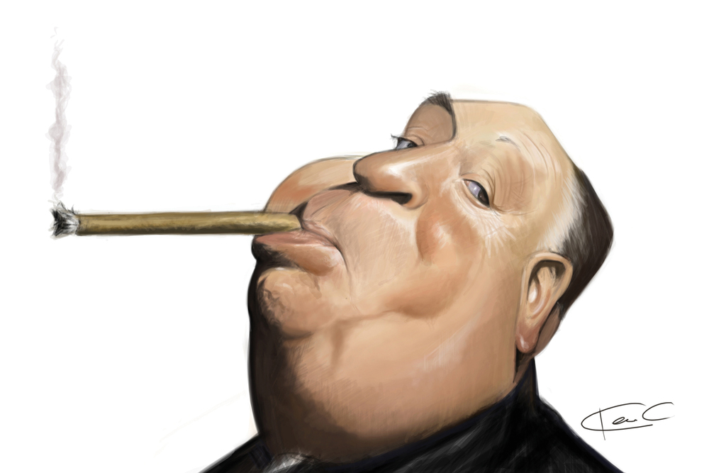 Alfred Hitchcock by Ken Coogan