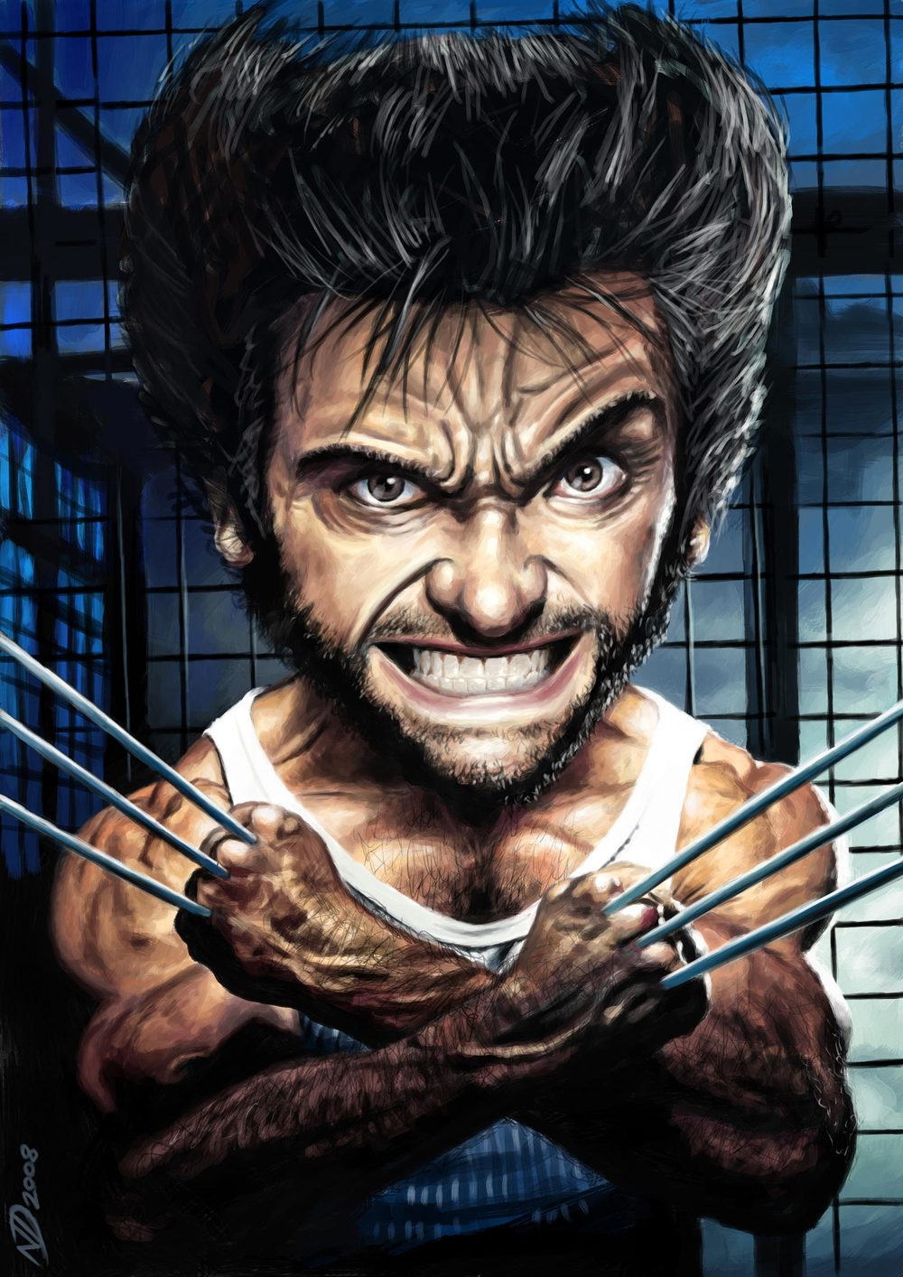 Hugh Jackman / Wolverine (X-Men) by Neil Davies