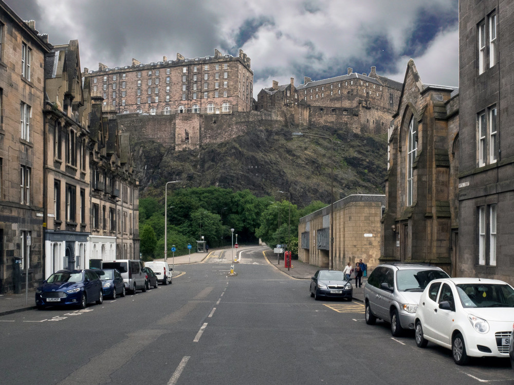 Edinburgh Castle Looking from Bread Street