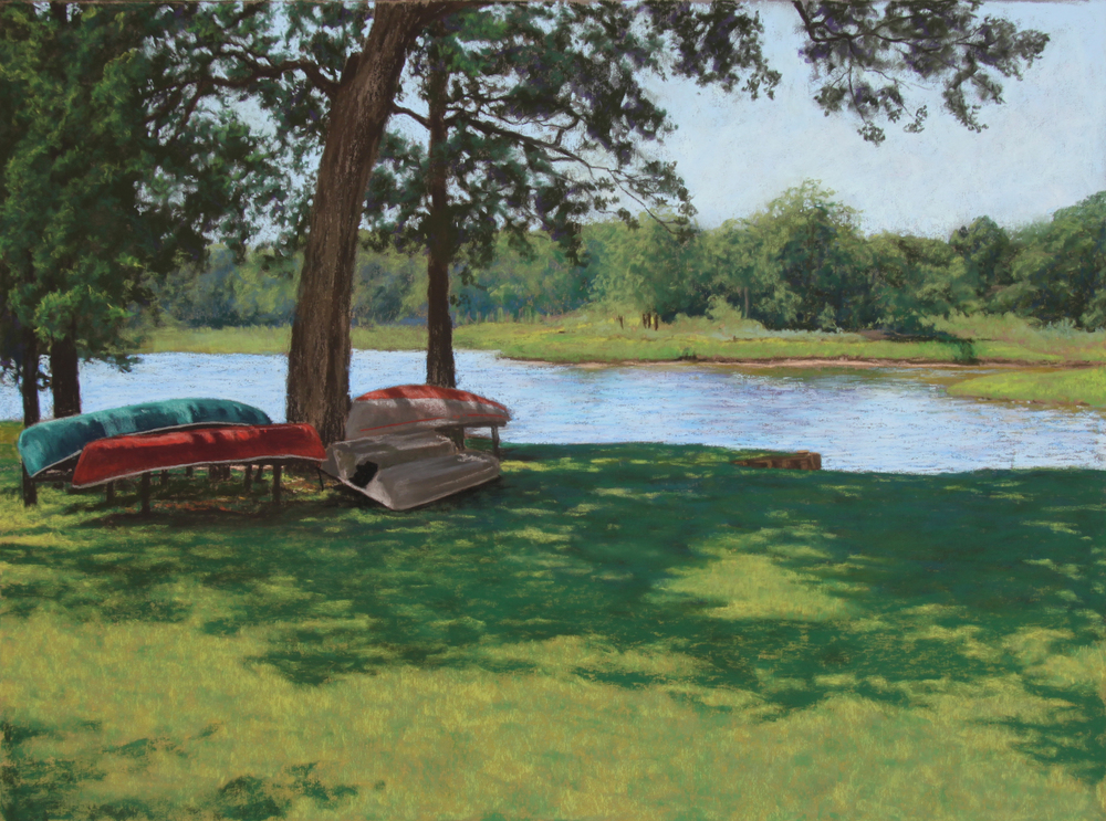 Canoes Resting in the Shade - sold