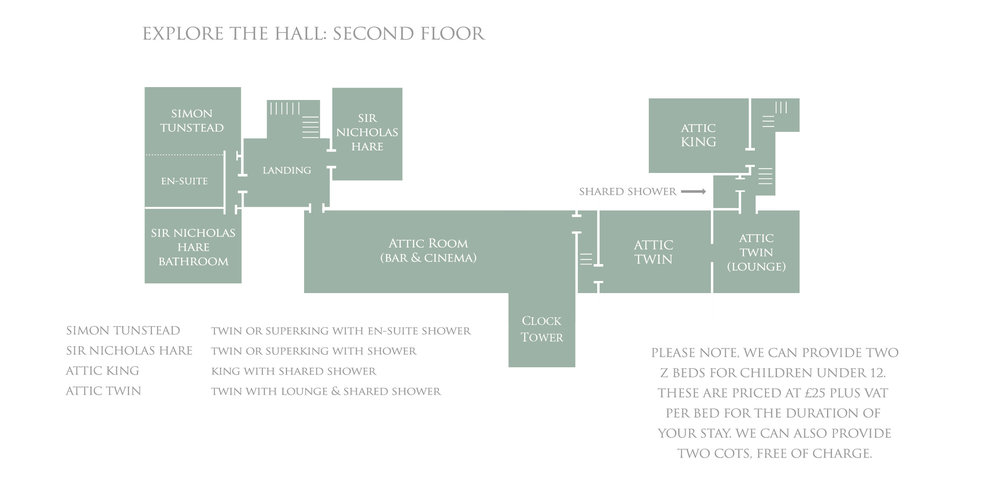 Bruisyard Hall: Second Floor