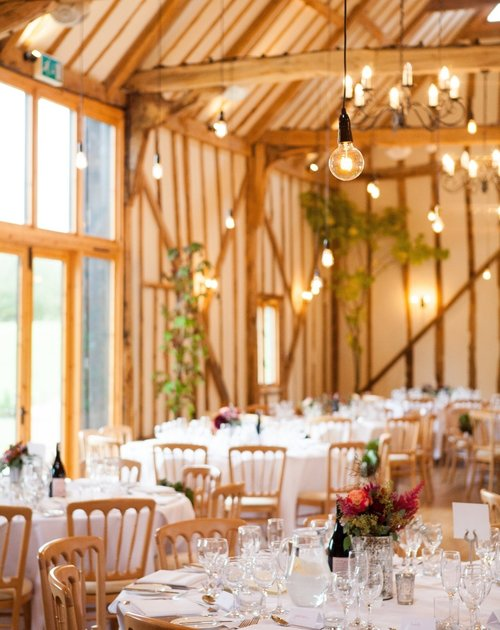 Wedding decoration trends for 2018 bruisyard hall barn country 1g junglespirit Gallery