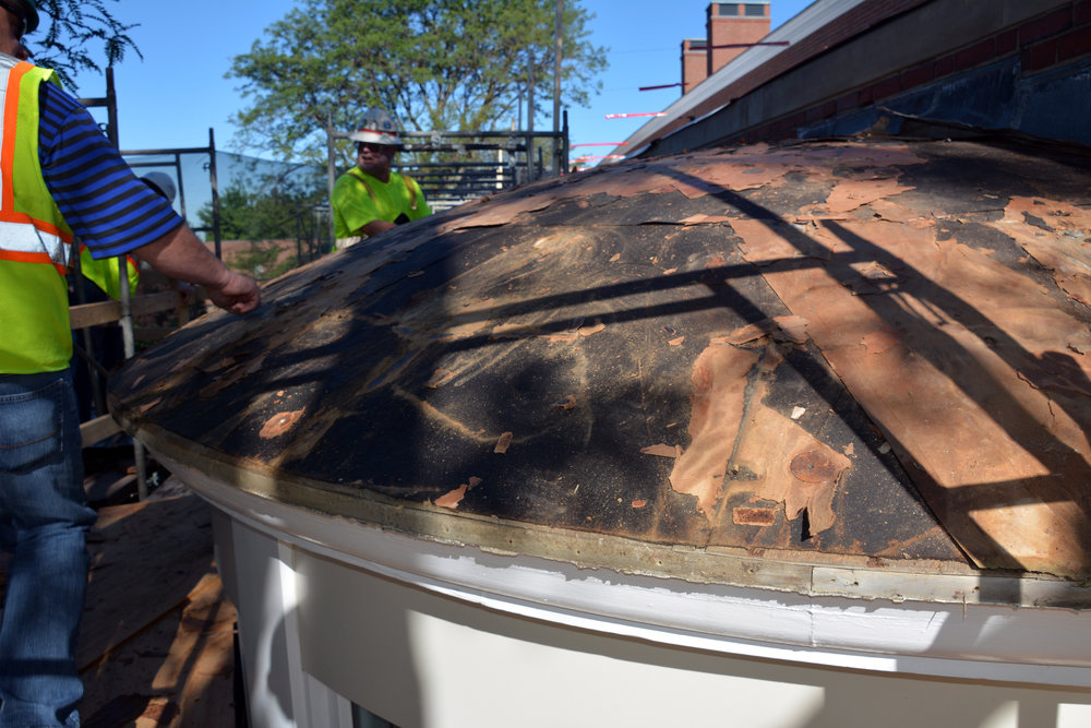 Progress: Copper Roof Replacement