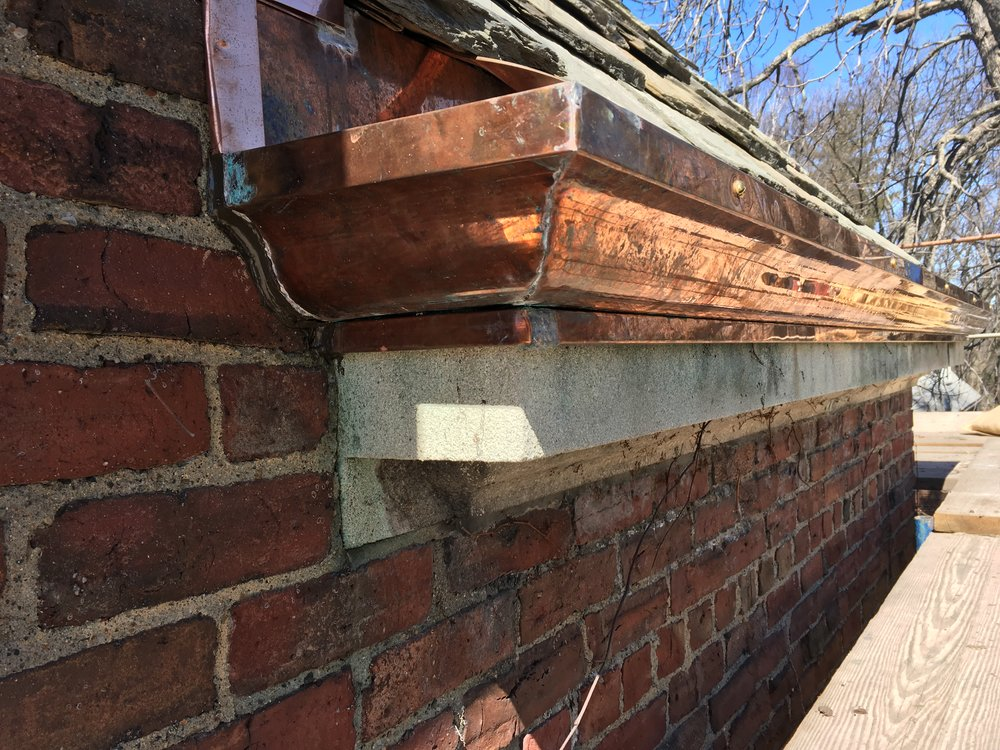 After: Copper Gutter