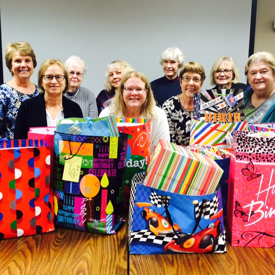 Birthday Bags for the children at Home Free shelter.