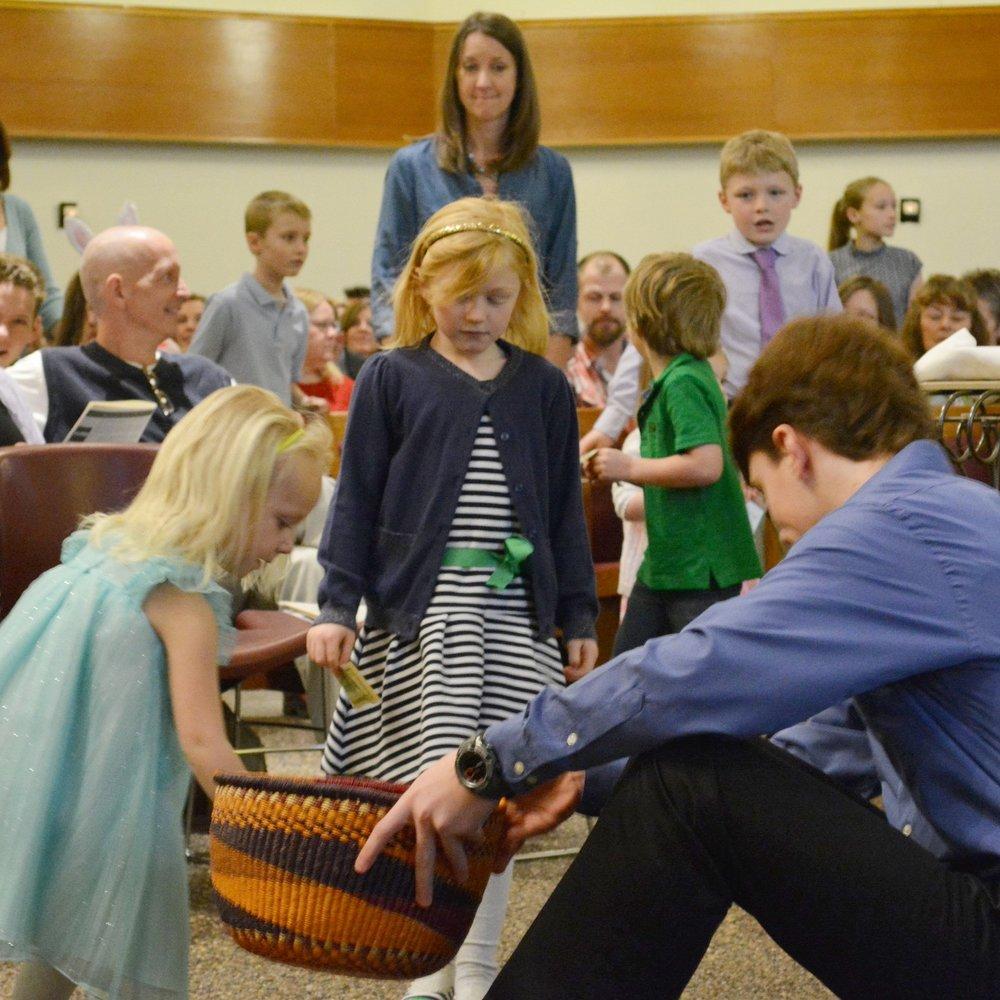 Children's Offering at Mount Olivet