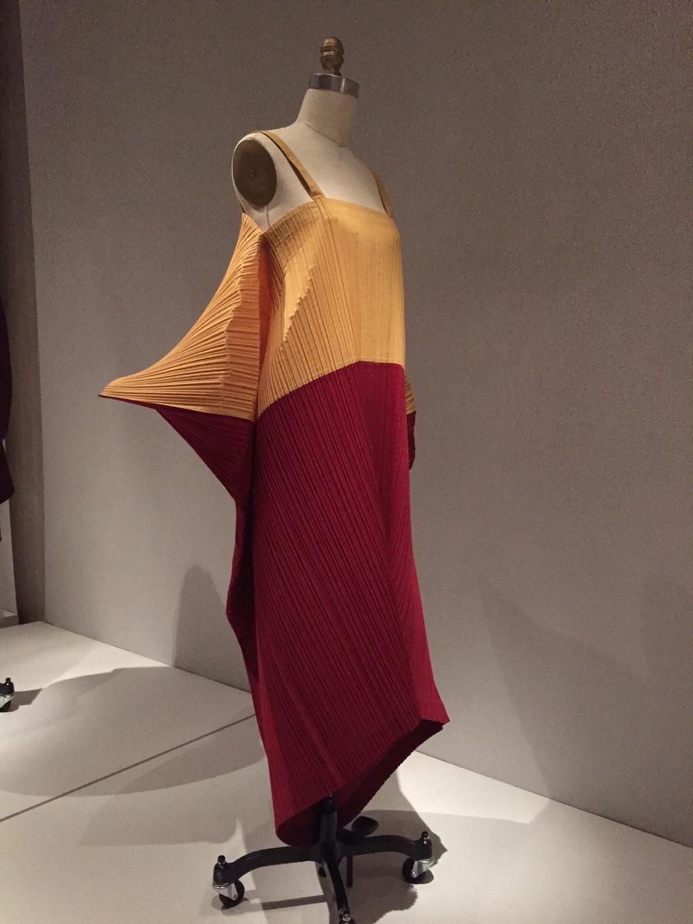 Issey miyake machine pleated dress