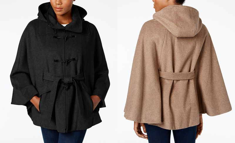 Belted Calvin Klein cape from Macys