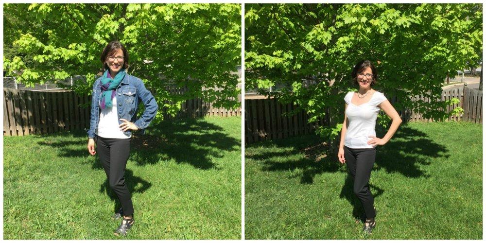 Kim Fredrich modelling essential spring layers