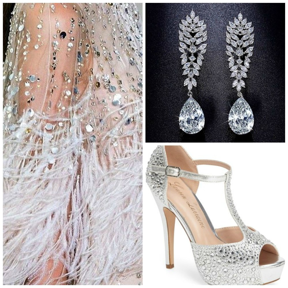 New Years Eve sequins and feathers