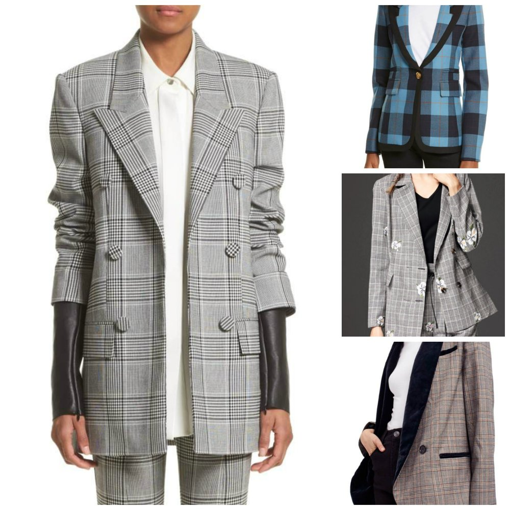Main image: Alexander Wang. Top right: a bright Smythe blazer from Nordstrom, center: StyleWe, bottom right: Free People