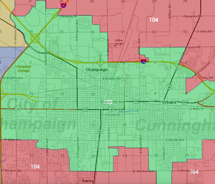 District Map State Representative Carol Ammons - Us house of representatives illinois district map