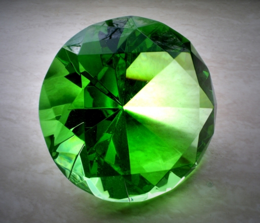 Not everyone has a mine of green diamond....!