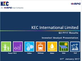 KEC Q3FY17 Investor ppt