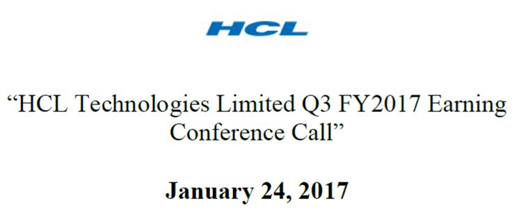 Q3FY17 Concall Transcript