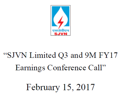 Q3FY17 Concall Cover