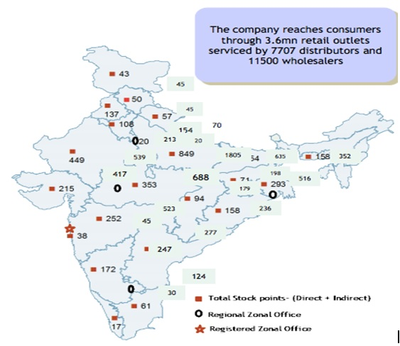 Bajaj Corp Geographical reach