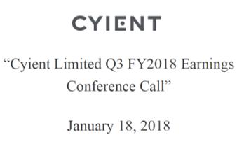 Q3FY18 Concall Transcript