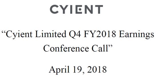Q4FY18 Concall Transcript
