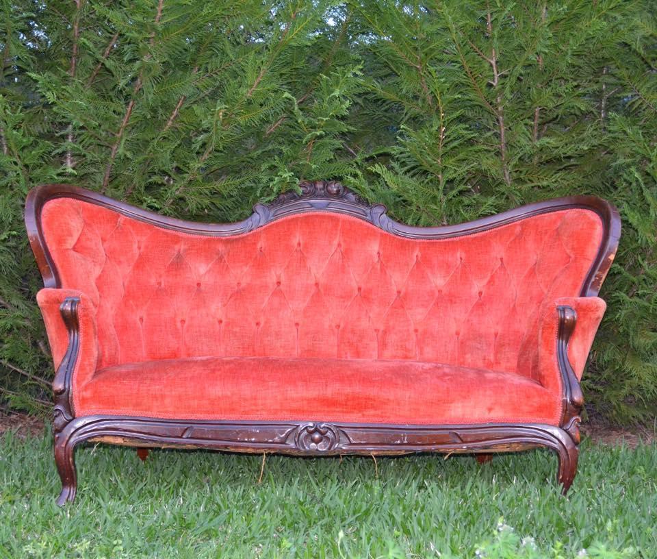 Vintage Tufted Sofa