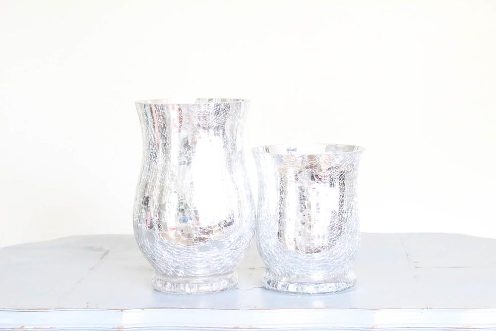 Silver Mercury Glass Vase Candleholder Provision Design Methods