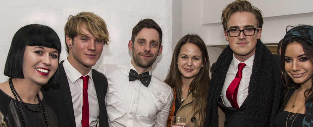 L-R: Rhiannon Adam (Gallery One-And-A-Half), Dougie Poynter (Mc Fly), Me (Paper Dandy) Tom Fletcher (Mc Fly), Giovanna Fletcher (author & actor), Glamourous Lady (?)