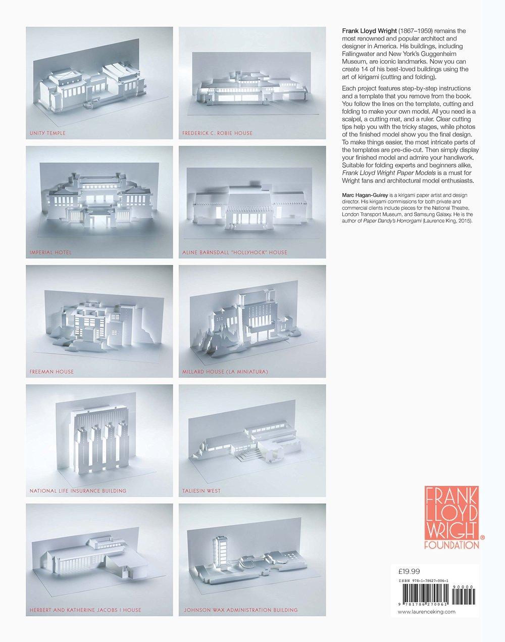 Frank Lloyd Wright Paper Models Book Paper Dandy
