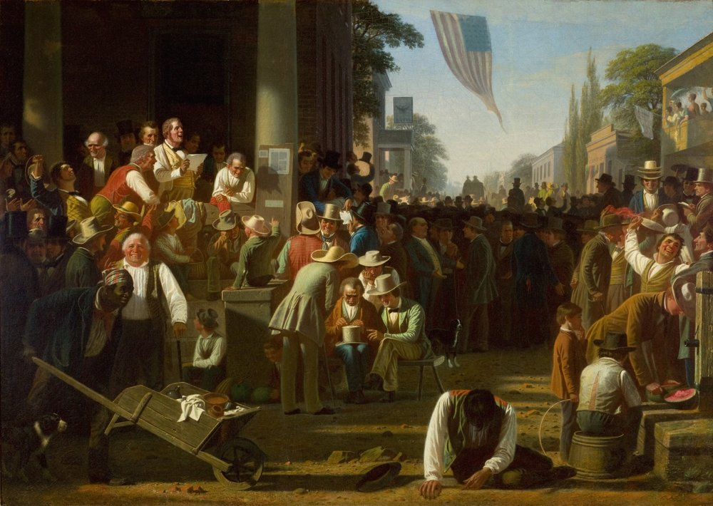 """George Caleb Bingham's """"Verdict of the People."""""""