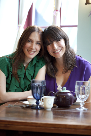 Lauren Fox (left), Haley Fox (right); founders of Alice's Tea Cup.