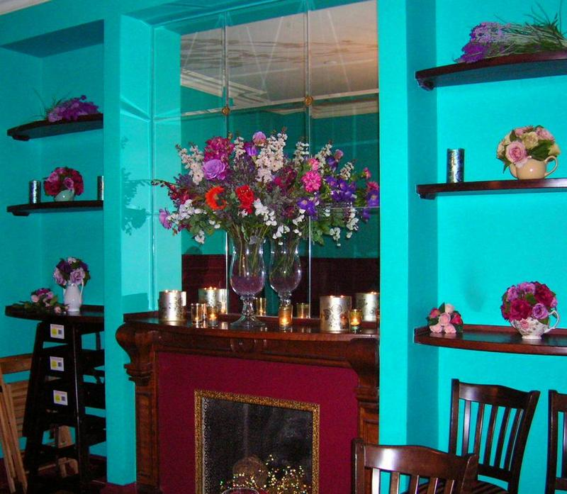 Faux Fireplace and Mantle, Looking Glass Room, Alice's Tea Cup Chapter ii
