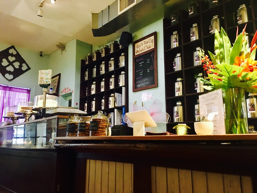 Bakery Case and Tea Wall, Alice's Tea Cup Chapter iii