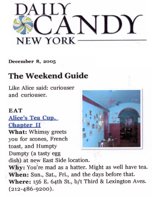 Alice's Tea Cup in Daily Candy