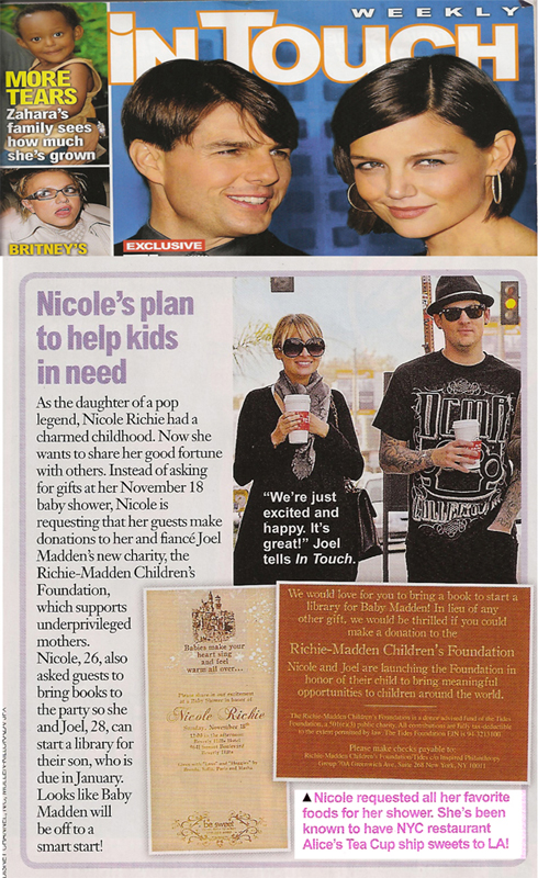 Alice's Tea Cup in InTouch Weekly