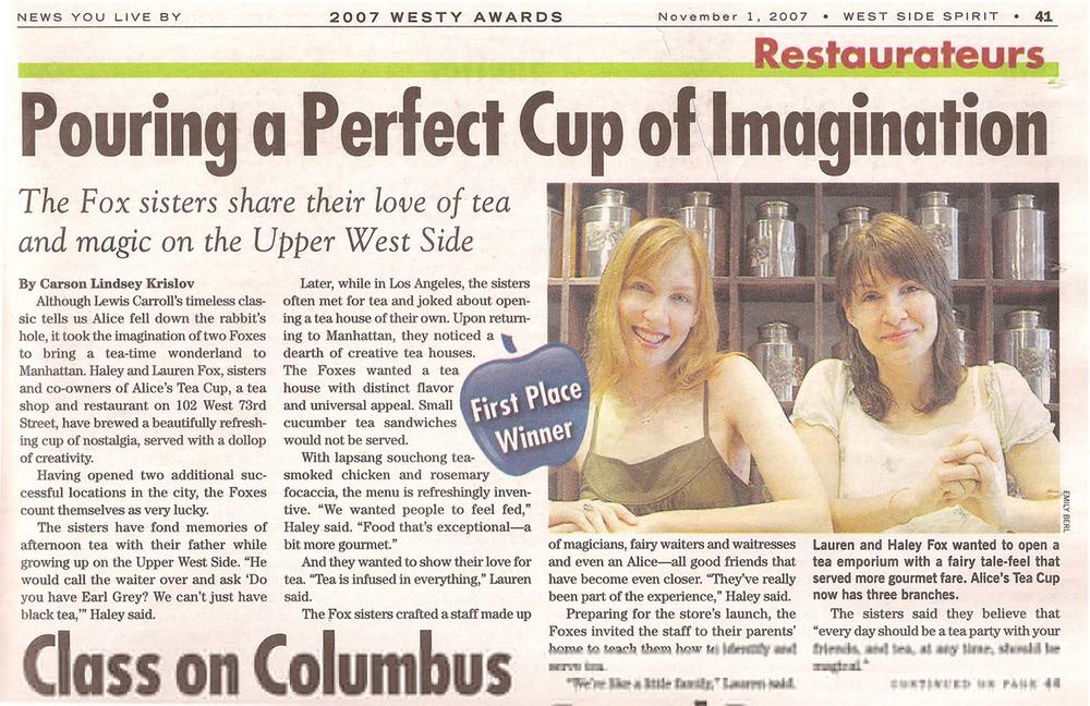 Alice's Tea Cup in West Side Spirit