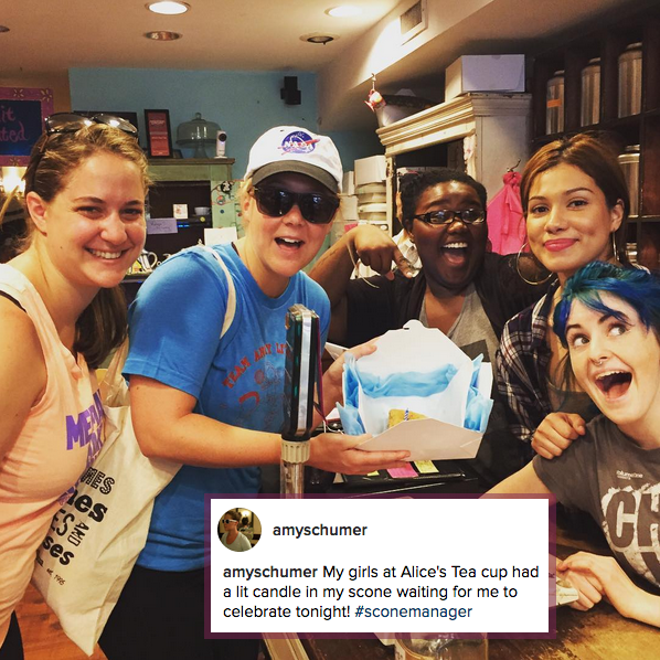 Amy Schumer stops by Alice's Tea Cup Chapter i