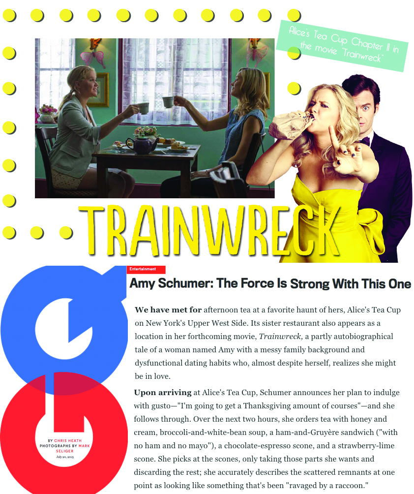 Alice's Tea Cup in GQ and Trainwreck