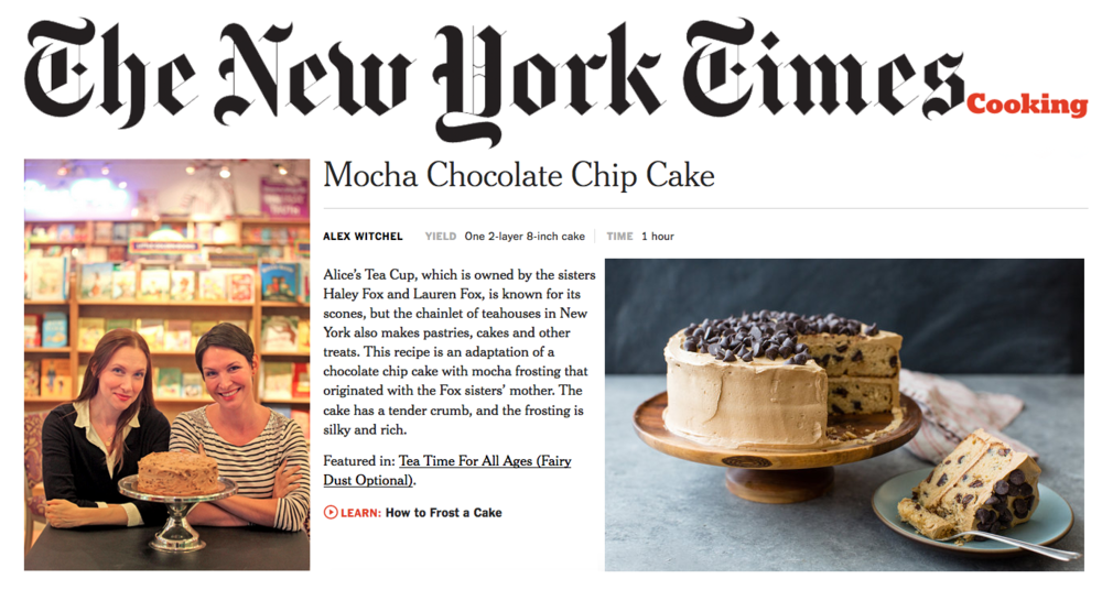 Alice's Tea Cup in the NY Times